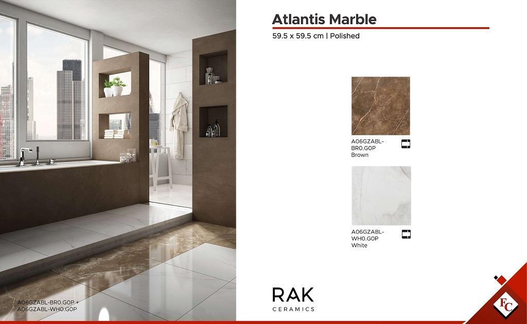 Bathroom: 59.5 x 59.5 Atlantis Marble