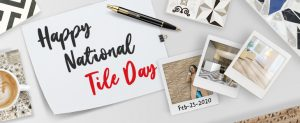 National Tile Day Banner