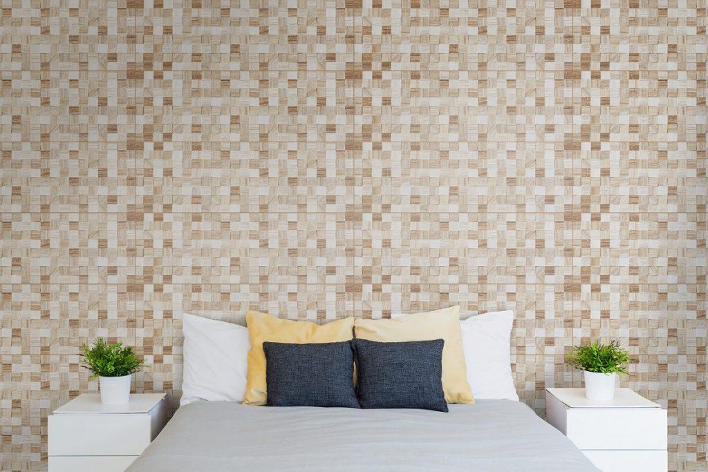 Bedroom with corkboard
