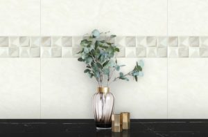 White Geometric Tile YF1032A