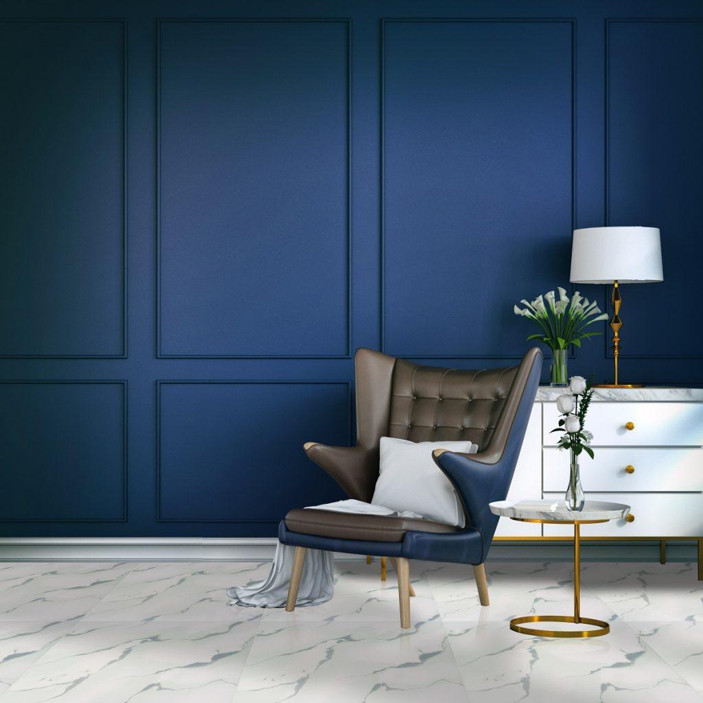 CLassic blue room /3d render